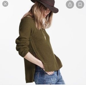 Madewell Side Zip sweater